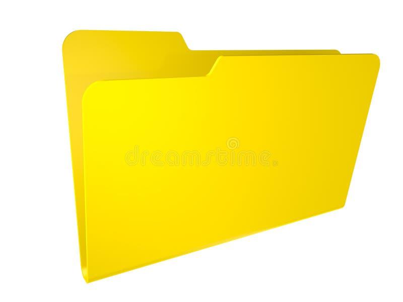 Pusta żółta falcówka. odizolowywający na biel. royalty ilustracja