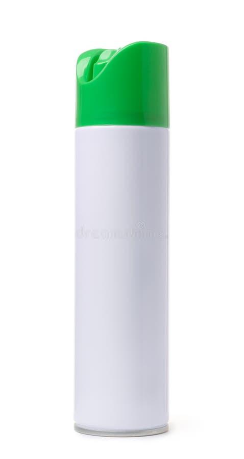 Pusta aerosolowej kiści butelka zdjęcia royalty free