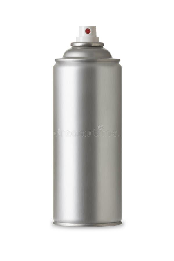 Pusta aluminiowa kiści farby puszka, Realistyczny fotografia wizerunek obrazy royalty free