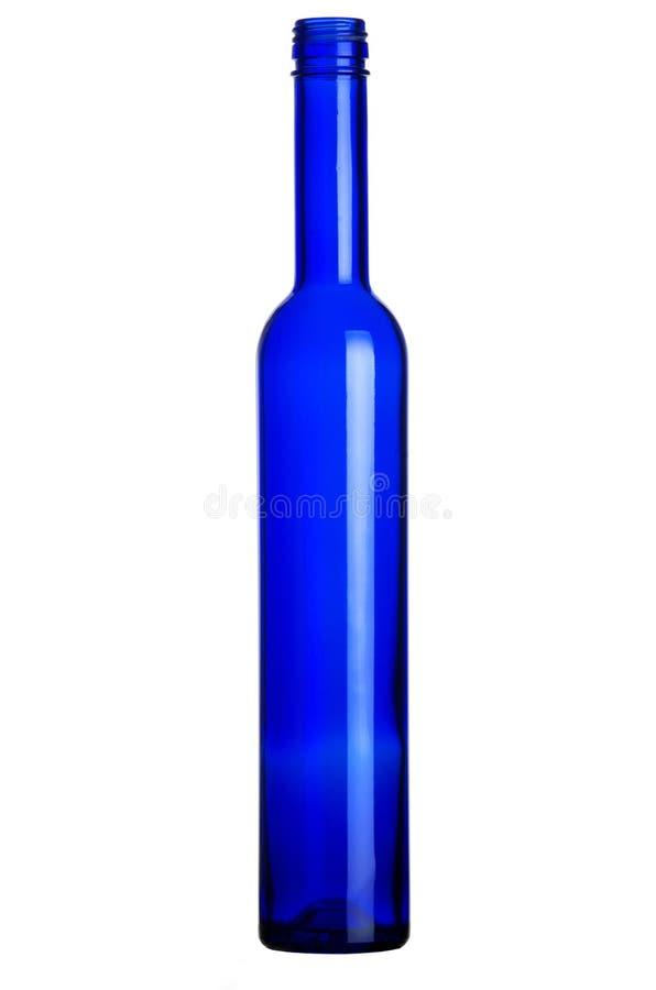 pusta błękitny butelka zdjęcia stock