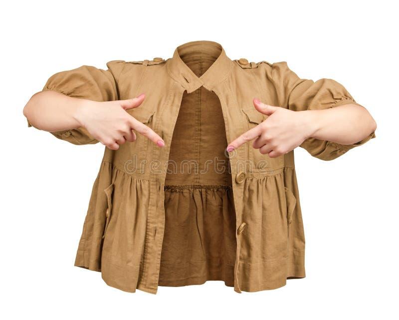 Download Pusta beżowa kurtka zdjęcie stock. Obraz złożonej z beż - 53780560