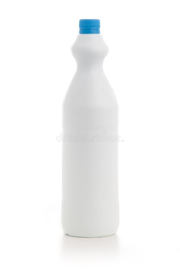 Pusta Biała butelka zdjęcia stock
