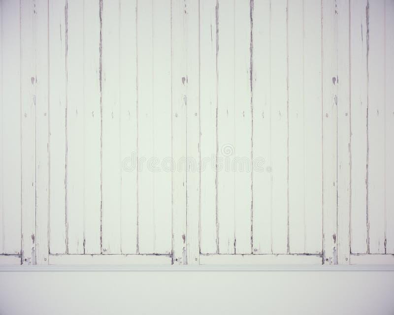 Pusta biała drewno ściana obraz royalty free
