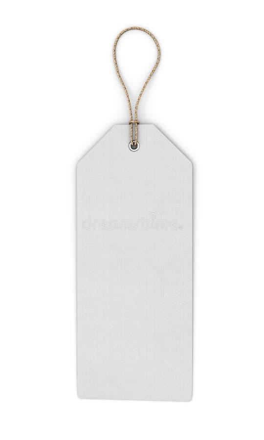 Pusta biała etykietka na białym tle Frontowy widok zastępcy ilustracja wektor