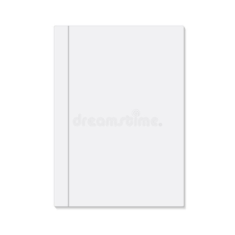 Pusta biała książkowa pokrywa, akcyjna wektorowa ilustracja royalty ilustracja