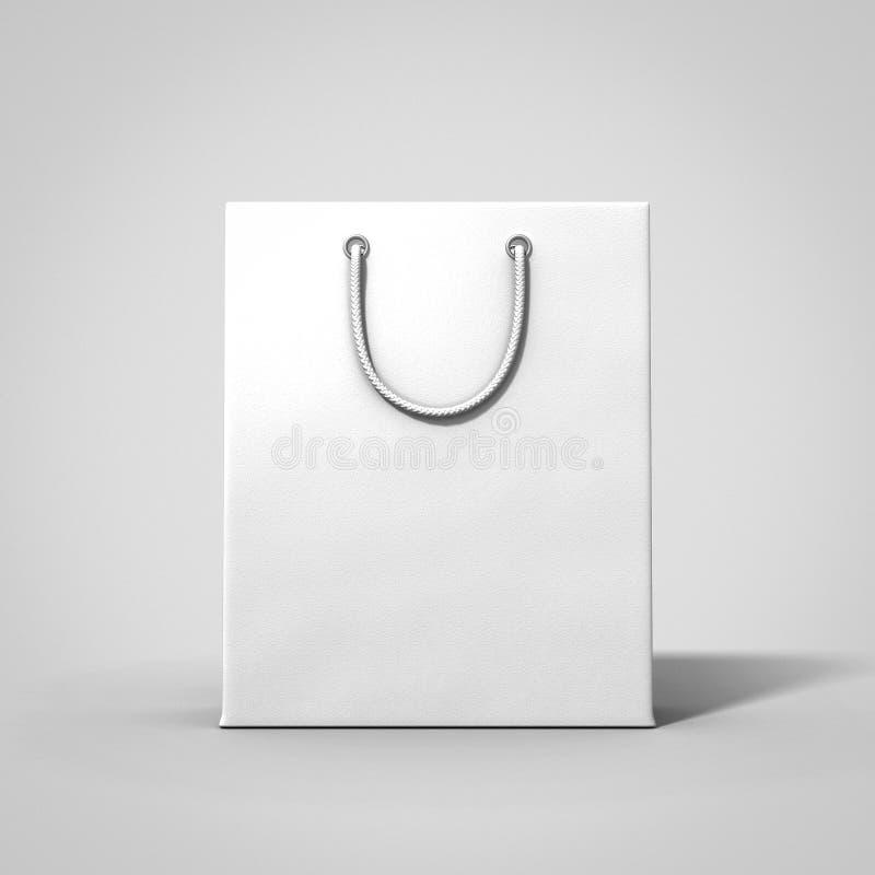 Pusta bielu sklepu torba royalty ilustracja