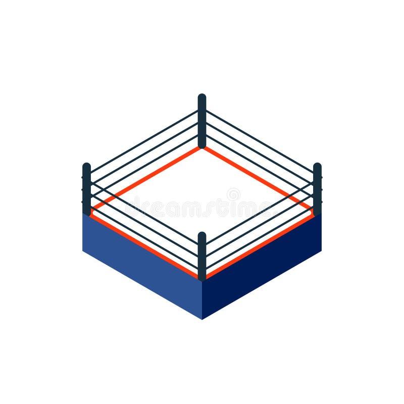 Pusta bokserskiego pierścionku ikona royalty ilustracja