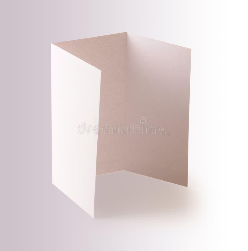 Pusta broszurka fotografia stock
