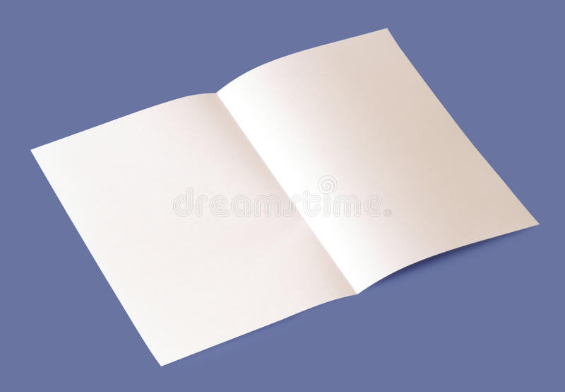 Pusta broszurka fotografia royalty free