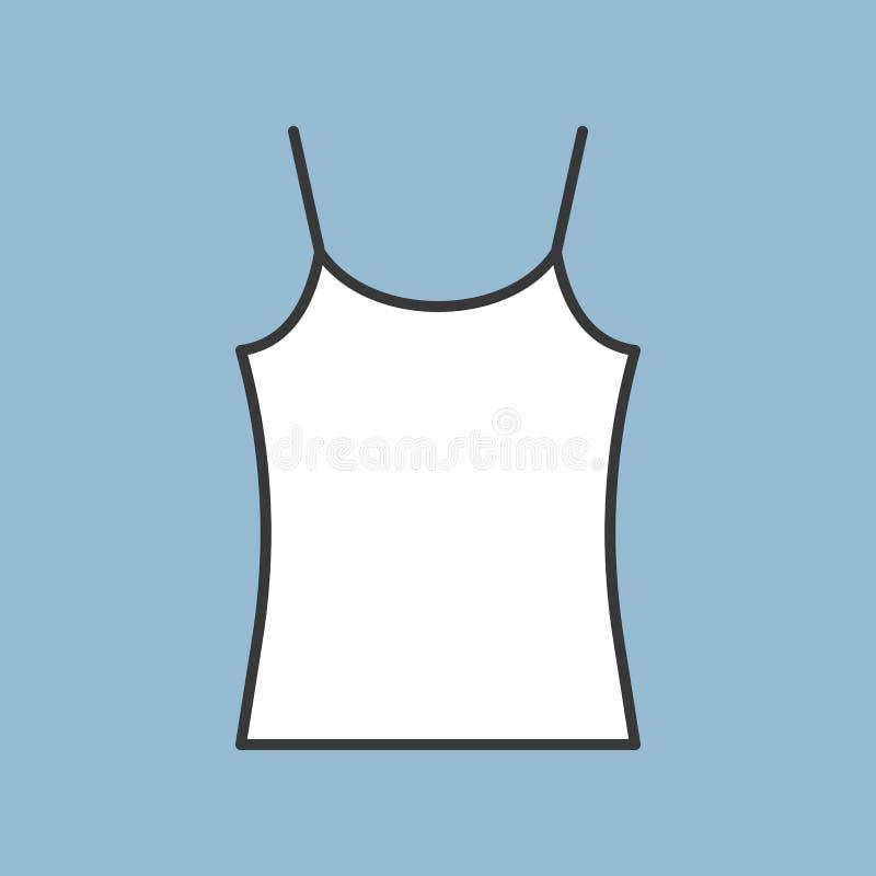 Pusta camisole ikona, wypełniający koloru konturu editable uderzenie royalty ilustracja