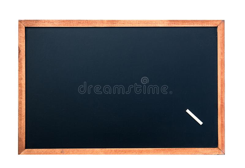 Pusta chalkboard tekstura z białą kredą Wizerunek dla tła fotografia royalty free