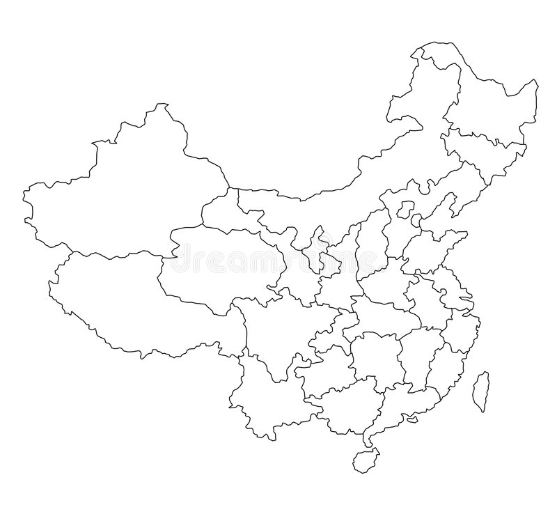 pusta chiny mapa ilustracja wektor