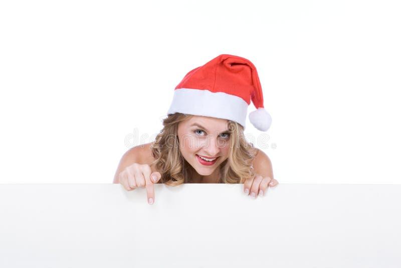 pusta Claus odbitkowa mrs Santa znaka przestrzeń obrazy royalty free