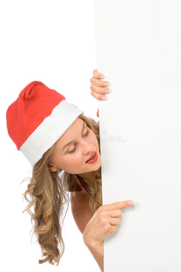 pusta Claus odbitkowa mrs Santa znaka przestrzeń fotografia stock