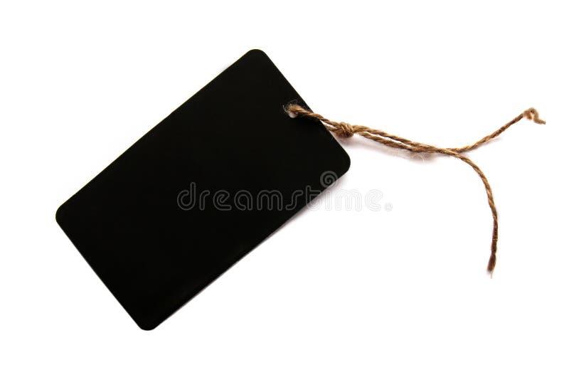 Pusta czarna ceny etykietka na białym tle zdjęcie stock