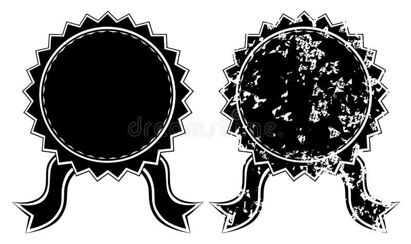 Pusta czarna foka ilustracji