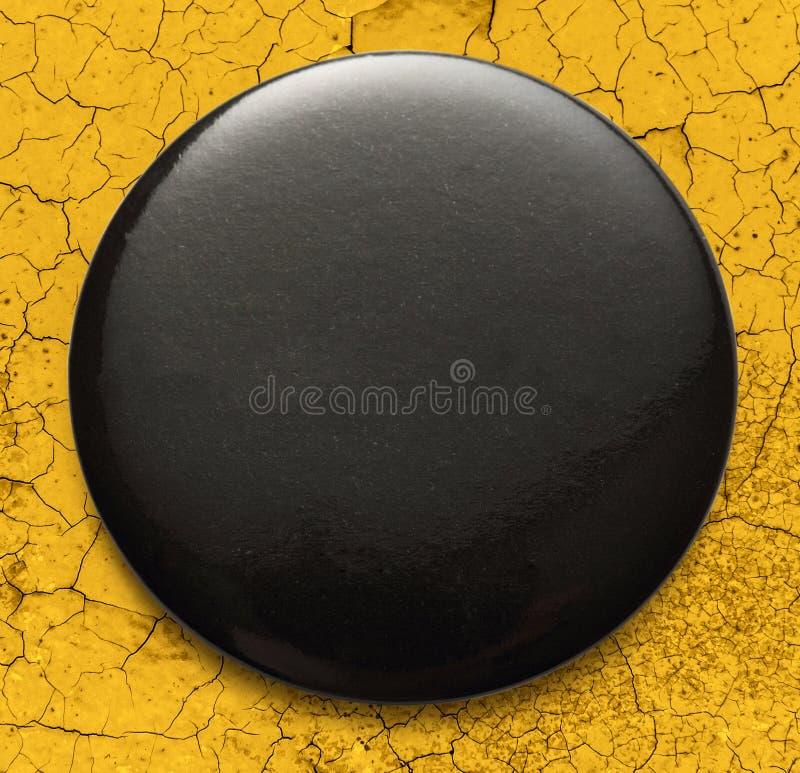 Pusta czarna round odznaka fotografia royalty free