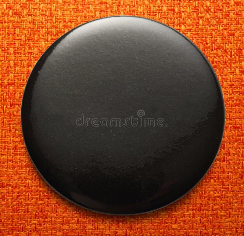 Pusta czarna round odznaka fotografia stock
