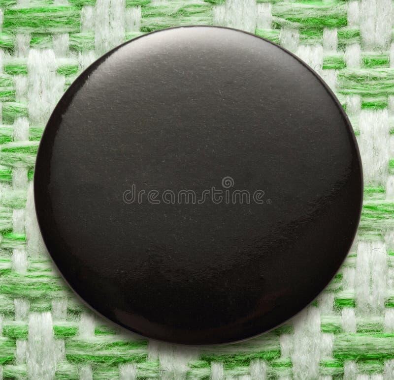 Pusta czarna round odznaka obrazy stock