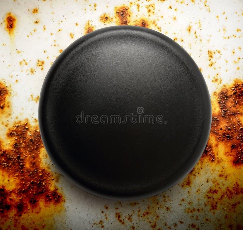 Pusta czarna round odznaka zdjęcia royalty free