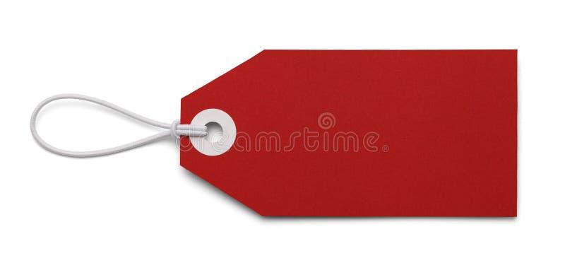 Pusta Czerwona etykietka zdjęcie royalty free