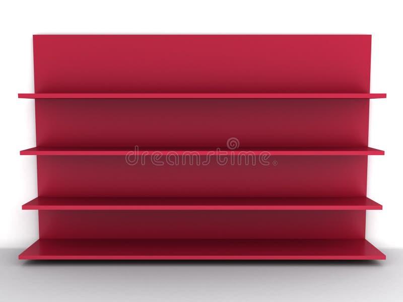 pusta czerwona półka ilustracji