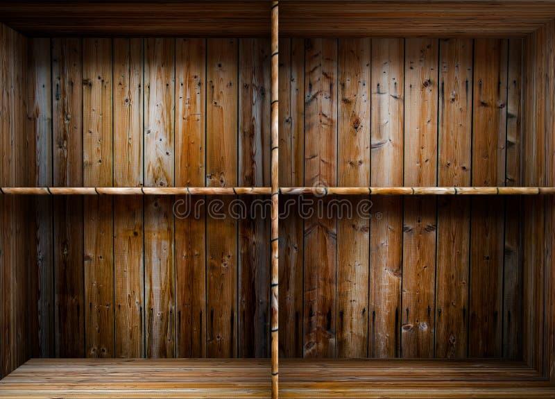 Pusta drewniana półka royalty ilustracja
