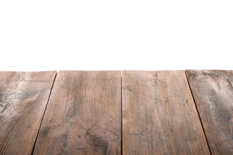 Pusta drewniana stół powierzchnia zdjęcie royalty free