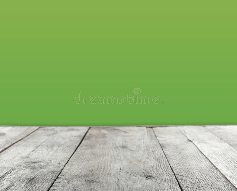 Pusta drewniana stół powierzchnia ilustracji