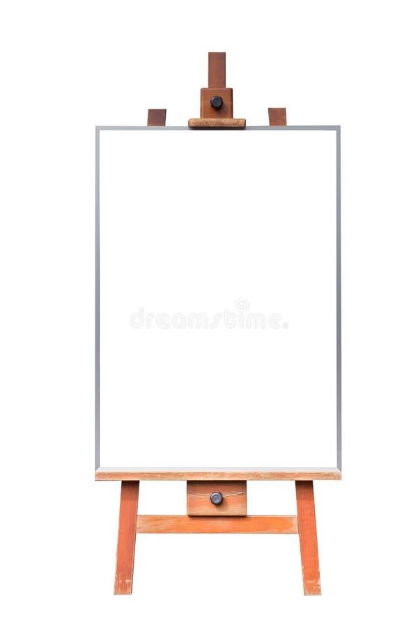 Pusta drewniana witryny sklepowej chalkboard etykietka odizolowywająca obrazy stock