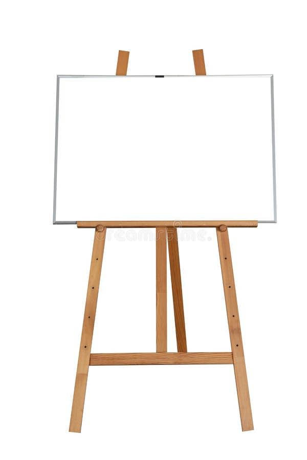 Pusta drewniana witryny sklepowej chalkboard etykietka odizolowywająca fotografia royalty free