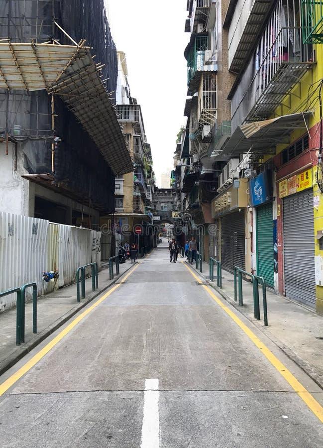Pusta droga w Hong Kong zdjęcia stock