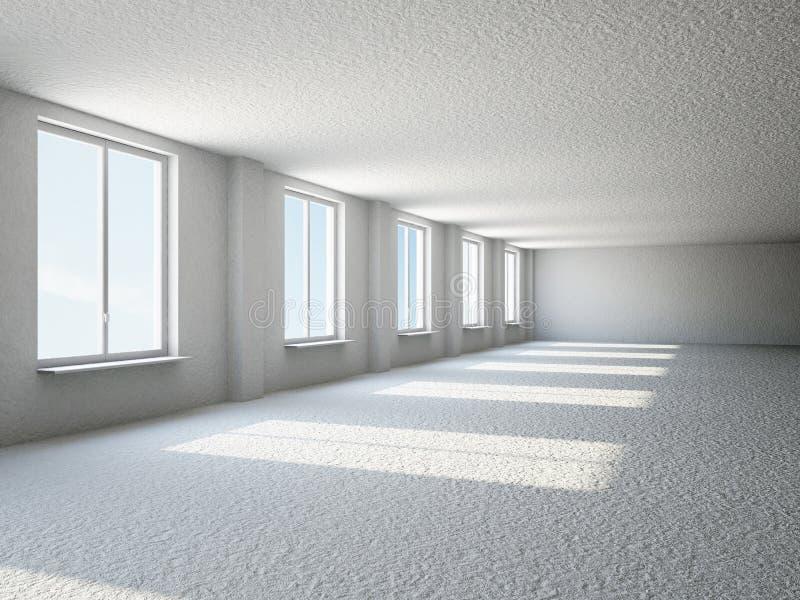 Opróżnia dużą sala z okno ilustracji