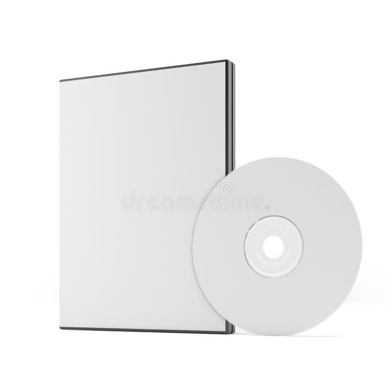 Pusta DVD skrzynka, dysk i ilustracja wektor