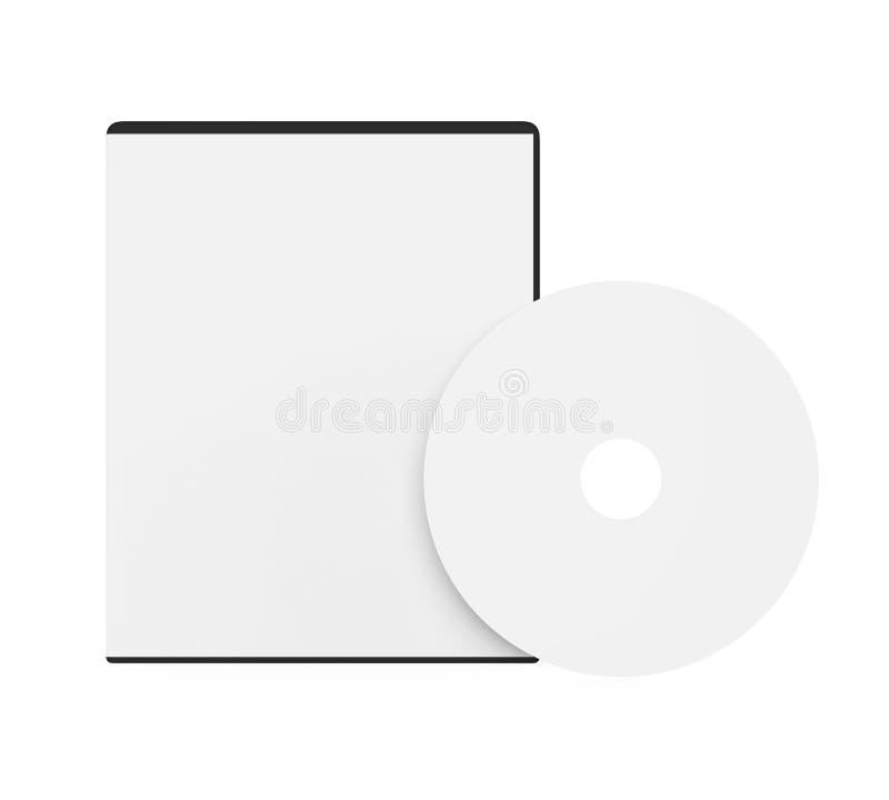 Pusta DVD skrzynka Odizolowywająca ilustracja wektor