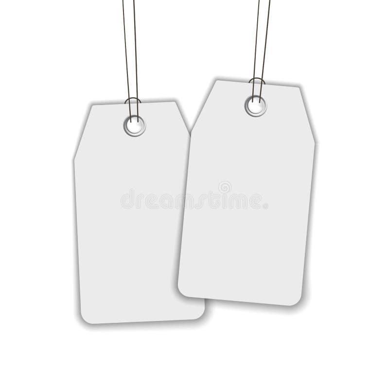 Pusta etykietka lub etykietka odizolowywający na bielu ilustracja wektor