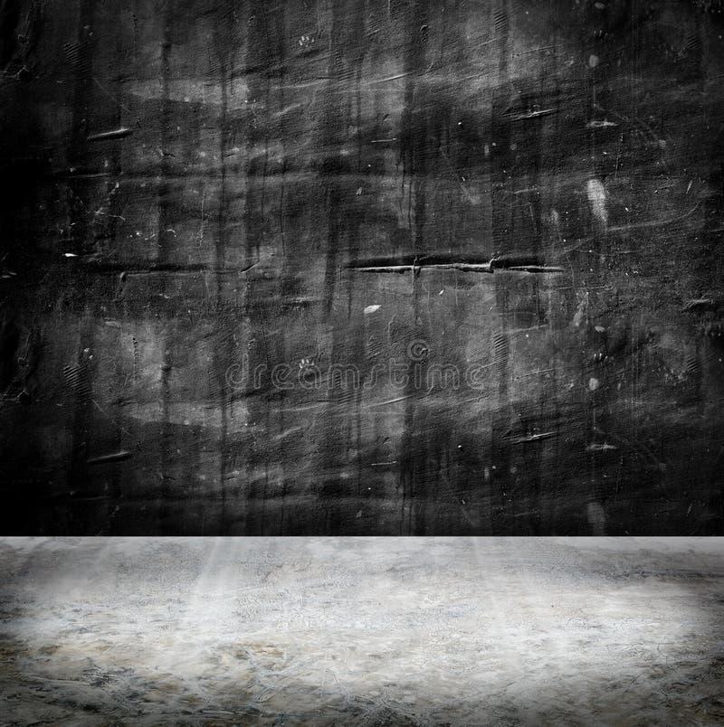 Pusta Grunge betonowa ściana i cement podłoga, tekstury tło obrazy royalty free