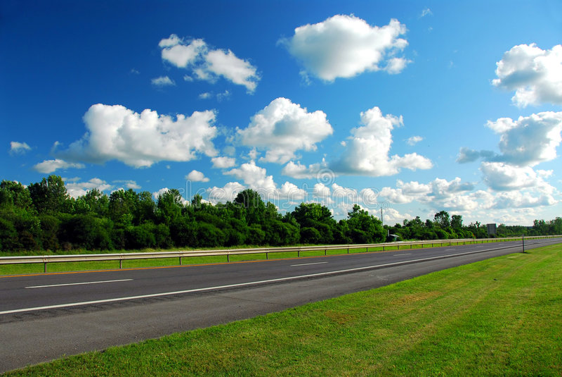 pusta highway zdjęcia royalty free