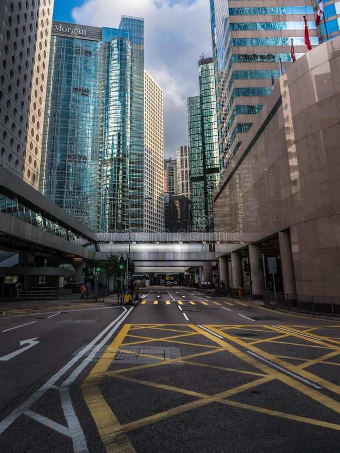 pusta Hong kong ulica zdjęcia royalty free