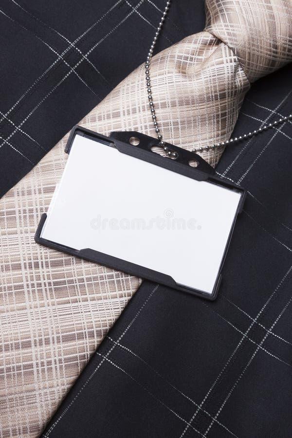 Pusta ID odznaka obrazy stock