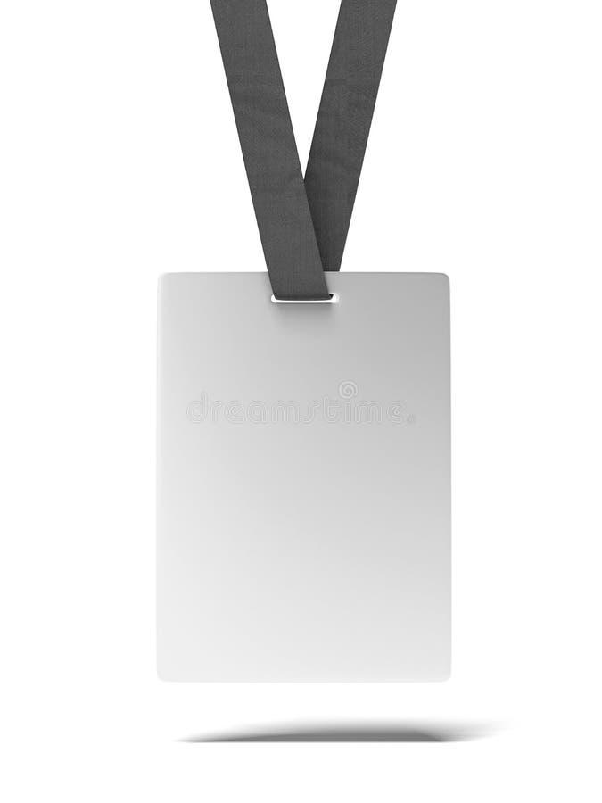 Pusta ID odznaka ilustracji