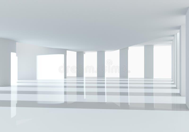 Pusta izbowa abstrakt ściana, okno i ilustracji