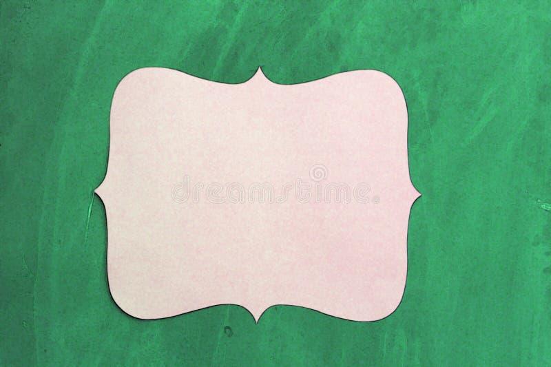 Pusta karta na Chalkboard zdjęcie royalty free