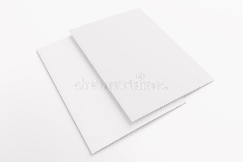 Pusta karta odizolowywająca na bielu zdjęcie royalty free