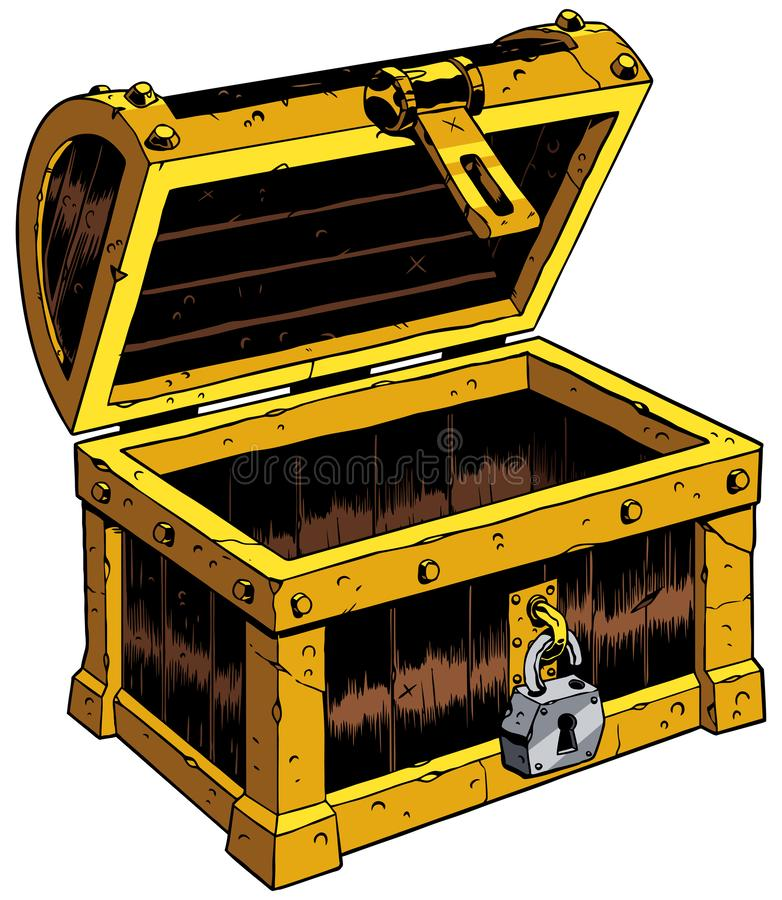 Pusta klatka piersiowa Drewniana royalty ilustracja