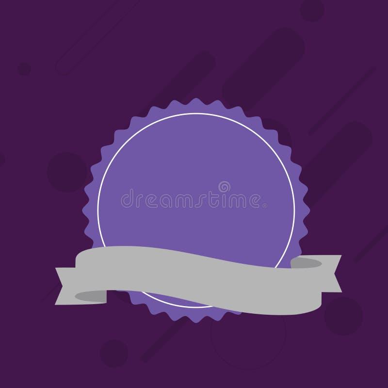 Pusta Kolorowa foka znaczka majcheru etykietka z Strzępiastą krawędzią i Różnego cienia Tasiemkowym paskiem Kreatywnie tło pomysł ilustracja wektor