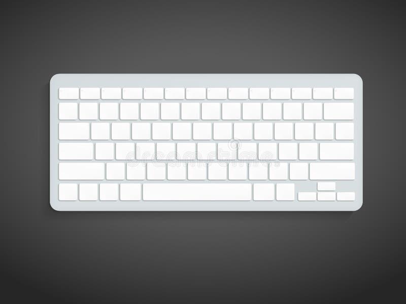 Pusta Komputerowa klawiatura royalty ilustracja