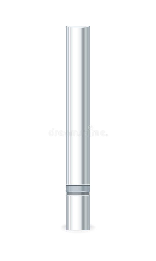 Pusta kosmetyka srebra tubka royalty ilustracja