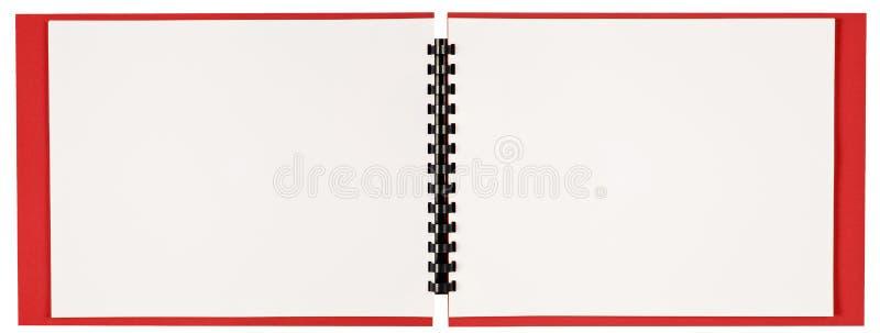 Pusta Krajobrazowego formata spirala - obszyta książka Rewidująca obrazy royalty free