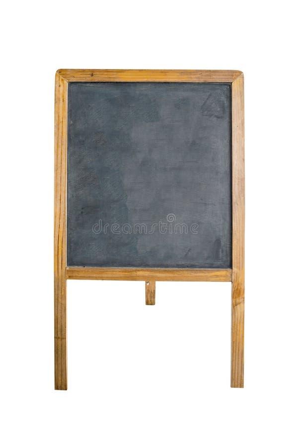 Pusta kredowa deska na tripod obraz stock